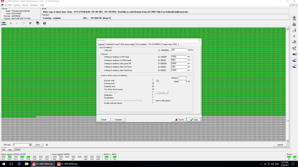 دستگاه بازیابی اطلاعات pc3000